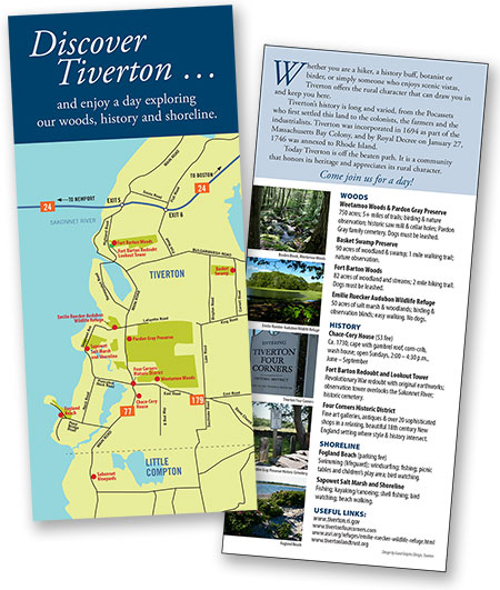 Discover Tiverton Rack Card